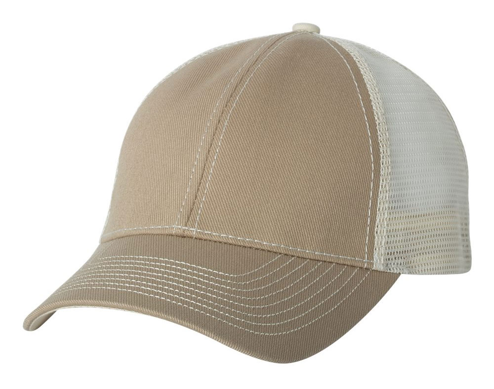 Heavy Cotton Twill Front Trucker Cap