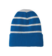 Custom Striped Beanie with Solid Band