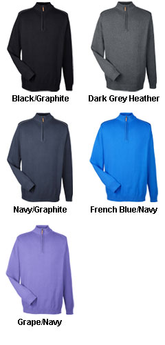 Mens Manchester Fully-Fashioned 1/2-Zip Sweater - All Colors