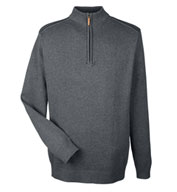 Custom Mens Manchester Fully-Fashioned 1/2-Zip Sweater