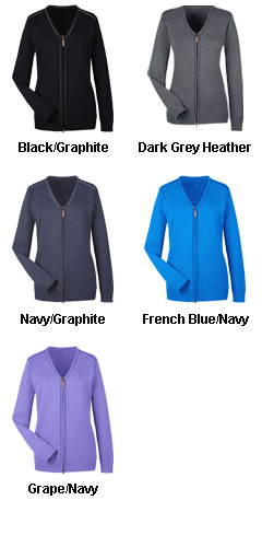 Ladies Manchester Fully-Fashioned Full-Zip Sweater - All Colors