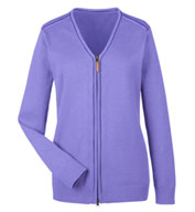 Custom Ladies Manchester Fully-Fashioned Full-Zip Sweater