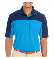 Ash City Core 365 Mens Balance Colorblock Performance Pique Polo