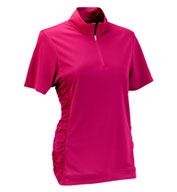 Custom Womens Vansport� Omega Ruched Polo