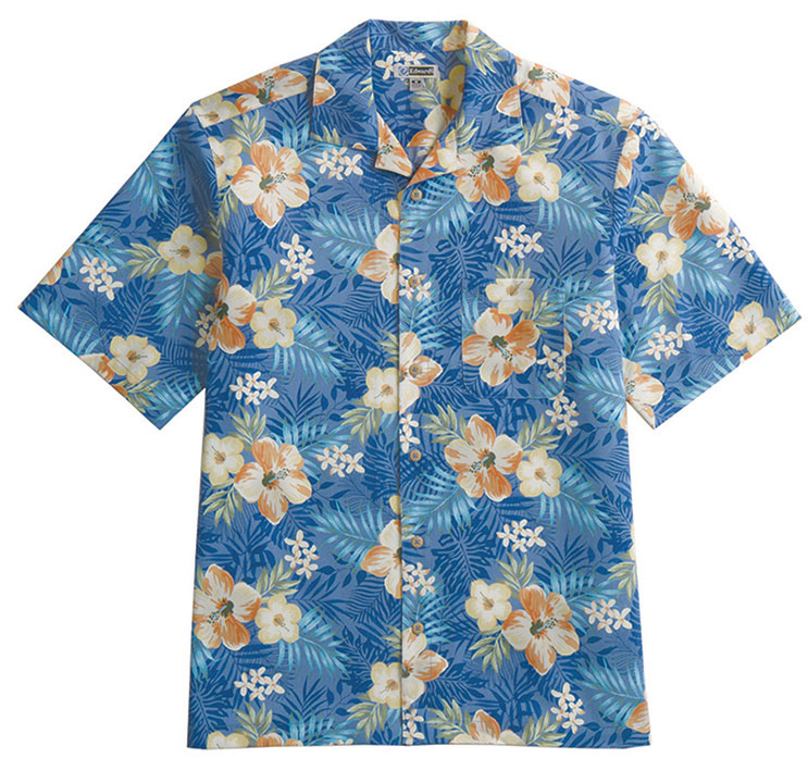 Unisex Tropical Hibiscus Camp Shirt