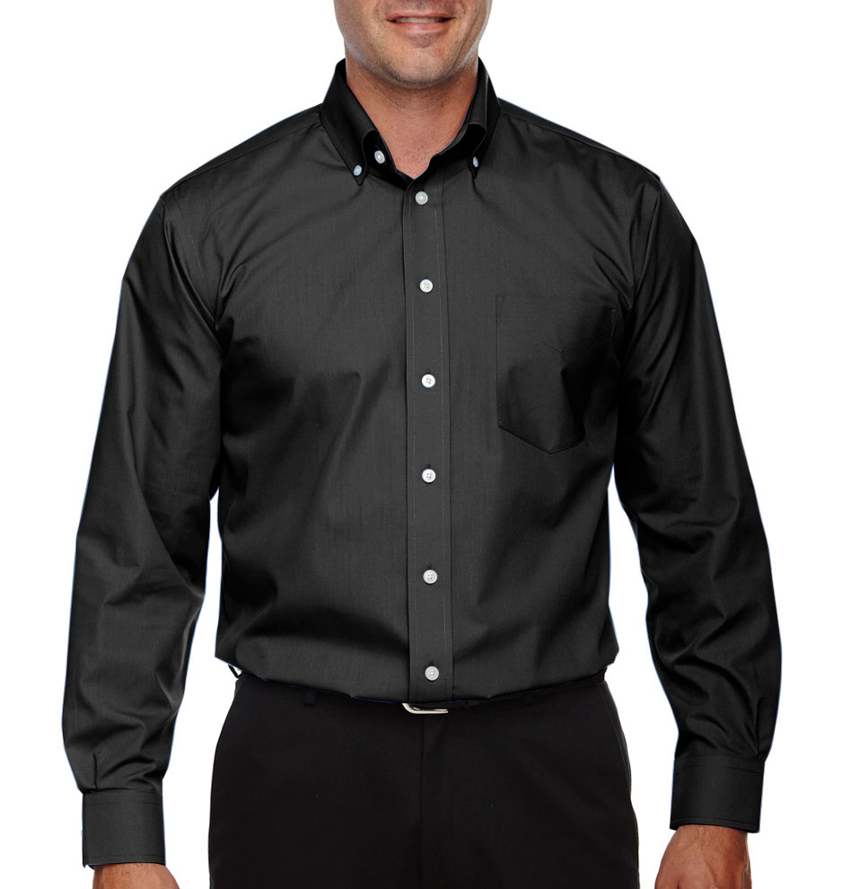 Mens Tall Performance Solid Broadcloth Dress Shirt