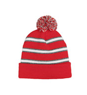 Custom Field Stripe Beanie Made In USA