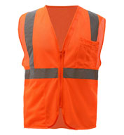 Mesh Zip Safety Vest