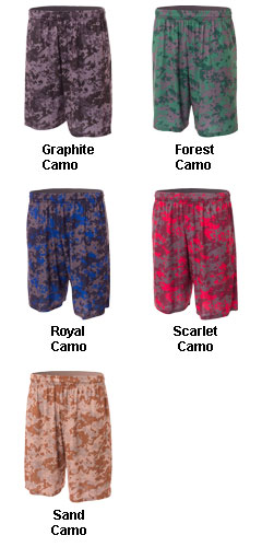 Youth Camo Performance Short - All Colors