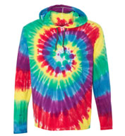 Dyenomite Tie Dyed Hooded Pullover T-Shirt