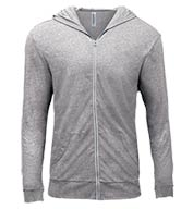 Threadfast Apparel Mens Triblend Full-Zip Light Hoodie