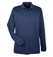 Custom UltraClub Mens Cool and Dry Long Sleeve Mesh Pique Polo