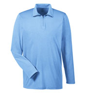 Custom Mens Cool & Dry Heathered Performance Quarter-Zip