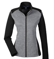 Custom Ladies Mélange Newbury Colorblock Fleece Full Zip