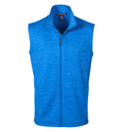 Custom Mens Newbury Colorblock Mélange Fleece Vest