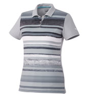 Womens Puma Washed Stripe Polo