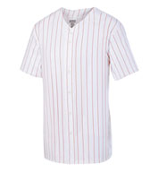 Custom Adult Pinstripe Full Button Baseball Jersey