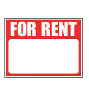 Plastic For Rent Sign