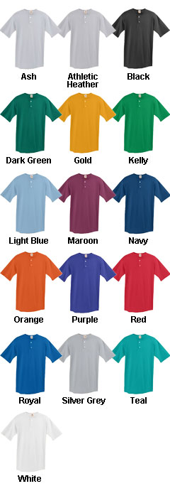 Youth Two-Button Baseball Jersey - All Colors