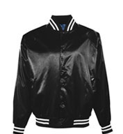 Custom Youth Pro-Satin Jacket with Striped Trim - Quilt Lined