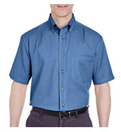 UltraClub Short Sleeve Denim Shirt