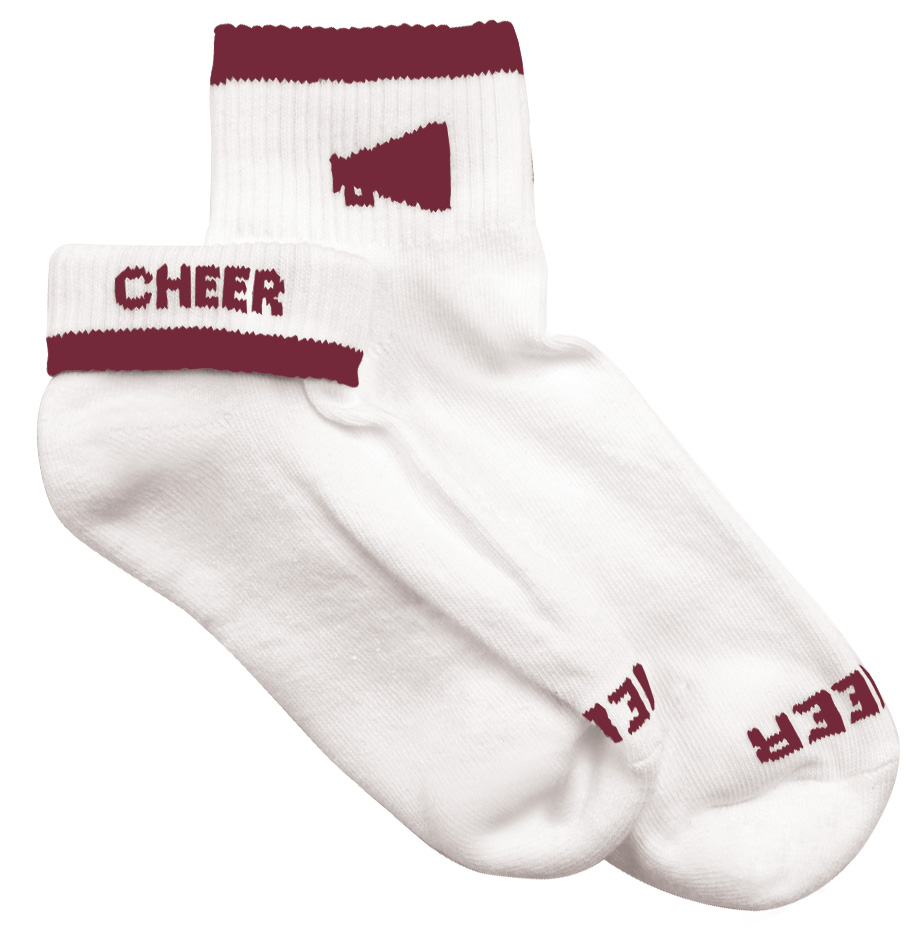 Womens Megaphone Cheerleader Socks