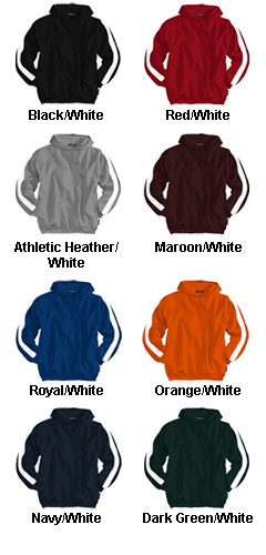Adult Pullover Hooded Sweatshirt with Side Stripes - All Colors