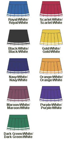 Womens Pleated Skirt with Trim - All Colors