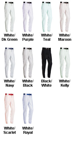 Adult Pro-Weight 14 oz. Pinstripe Baseball / Softball Pants - All Colors
