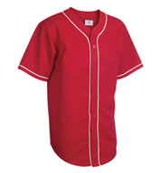Adult 6-Button Baseball Jerseys with Sewn-On Braid