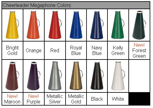 Custom Megaphones - All Colors