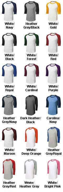Custom Adult Colorblock Raglan Jerseys - All Colors