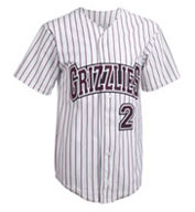 Custom Adult Splitter Pinstripe 6 Button Front Jersey Mens