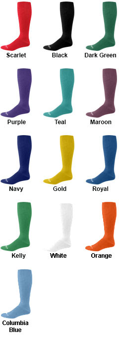 Adult Solid Multi-Sport Game Socks - All Colors
