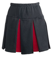 Custom Womens Box Pleated Skirt with Contrast Colored Pleats