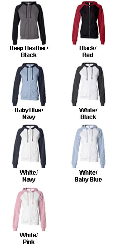 Bella Colorblock Full-Zip Hooded Sweatshirt - All Colors