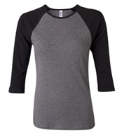 Custom Ladies 3/4 Sleeve Raglan Colorblock T-Shirt