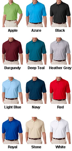 Luxurious, Smooth & Baby Soft--The Egyptian Mens Pima Solid Logo Polo - All Colors