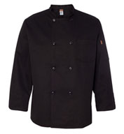 Custom Chef Designs Black Traditional Chef Coat