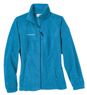 Custom Womens Columbia Fleece Full Zip Jacket