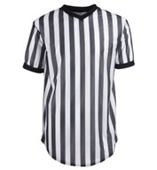 Custom Cotton/Polyester Black and White Basketball Officials Shirts