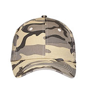 Custom Six Panel Camouflage Caps In Six Colors