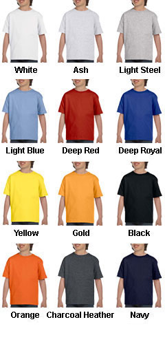 Hanes Youth Short Sleeve Beefy T-Shirt  - All Colors