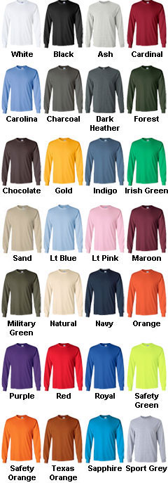 Gildan 100% Heavyweight Ultra Cotton Long Sleeve T-Shirt  - All Colors